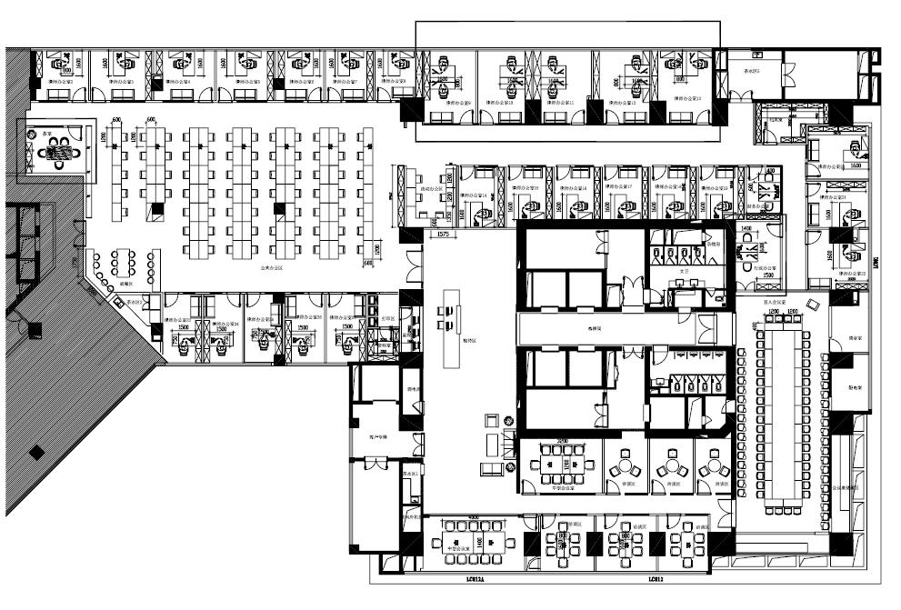 泰和泰办公家具工程案例设计图