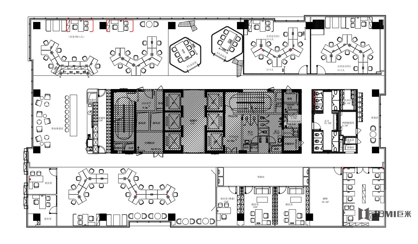 西安美百年联合办公设计图